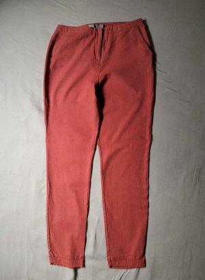 Leinenhose in rosé von ASOS Größe 40 Zigarettenhose Chino Stoffhose