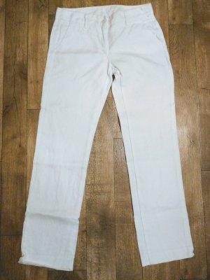 Benetton Linen Pants white linen