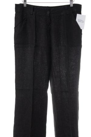 Pantalón de lino negro look casual