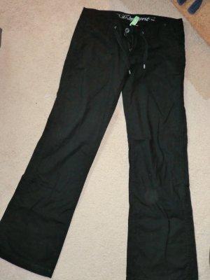 Esprit Pantalon cinq poches noir lin