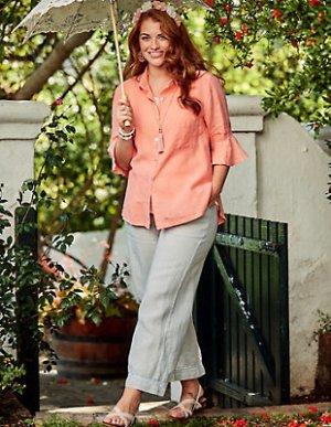 Deerberg Pantalón de lino gris claro Lino