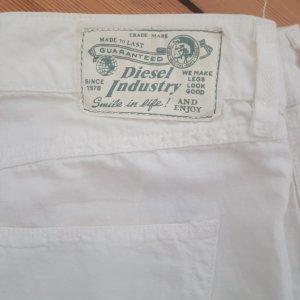 Diesel Pantalón de lino blanco