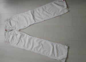 Leinenhose von EDC by Esprit in weiß