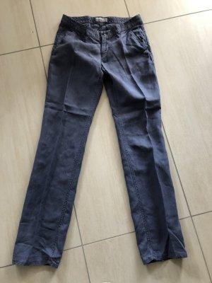 Esprit Pantalón de lino azul acero