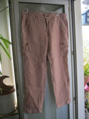 Esprit Pantalón de lino albaricoque