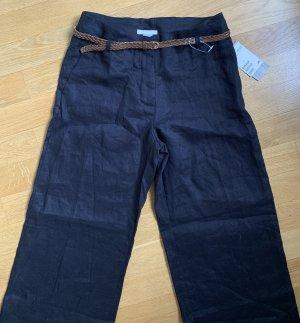 H&M Pantalón de lino azul oscuro-azul
