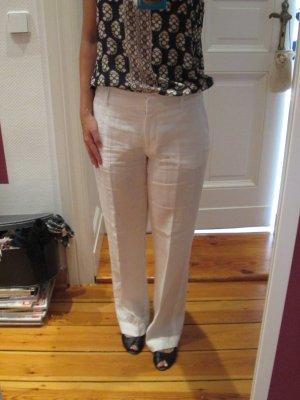 H&M Pantalón de lino blanco