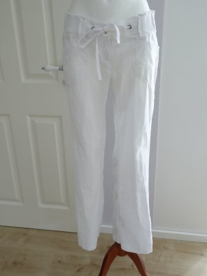 QS by s.Oliver Linen Pants white linen