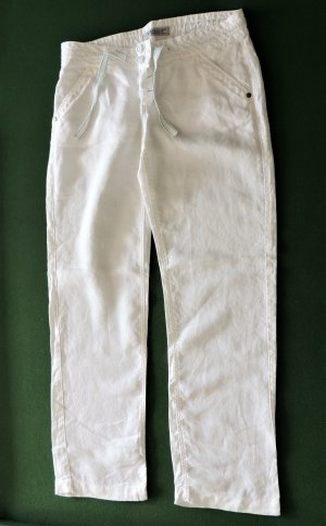 Clockhouse Linen Pants white linen
