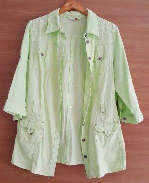 Veste chemisier vert clair-vert menthe