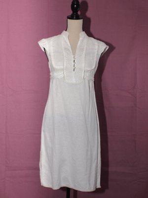 Zara Basic Empire Dress cream linen