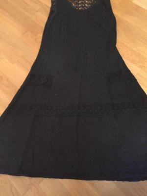 Vestido playero negro Lino