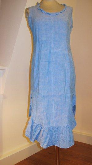 Leinenkleid blau/pink Webung