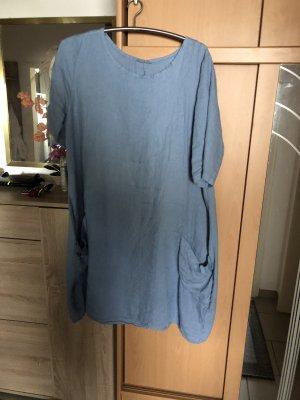 0039 Italy Robe à manches courtes bleu acier