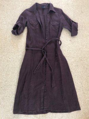 Leinenkleid Hemdblusenkleid braun H&M Gr  34