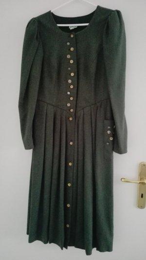 Leinenkleid im Landhausstil dunkelgrün