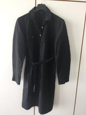 Leinenkleid in schwarz von Lands' End Gr. 42