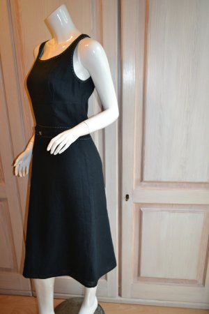 Leinenkleid Kleid Leinen schwarz 36 Retro Dress Unlimited