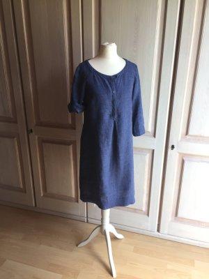 Marc O'Polo Shirtwaist dress steel blue-cornflower blue linen