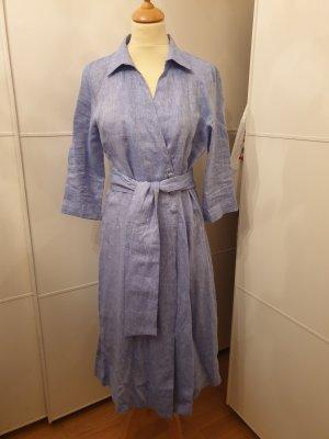 Zara Shirtwaist dress azure-steel blue linen