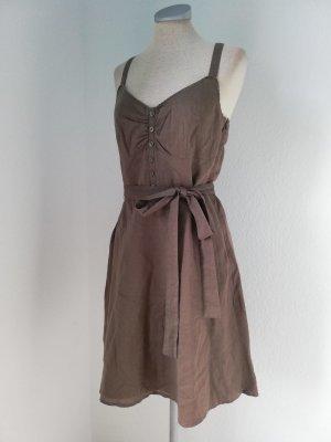 Leinenkleid Trägerkleid braun khaki Gr. 38 S M Sommerkleid Kleid kurz knielang Esprit