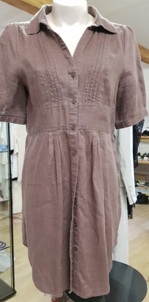Shirtwaist dress multicolored linen
