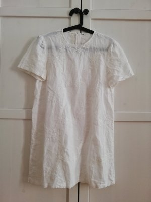 Leinenkleid - weiß