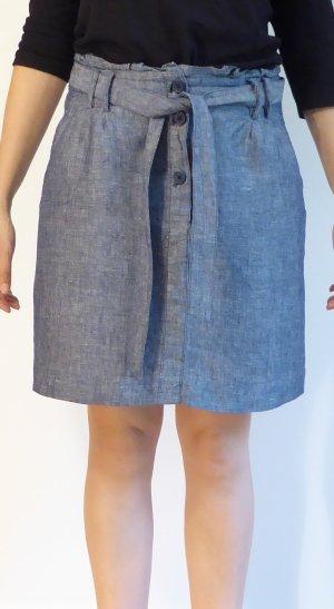 Opus Falda de lino gris-azul oscuro