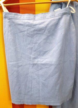 Falda de lino azul celeste-azul aciano Lino