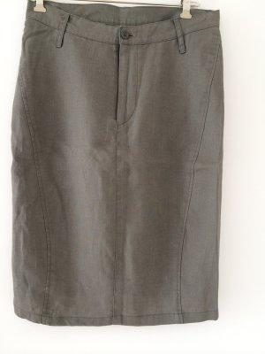 Pencil Skirt green grey linen