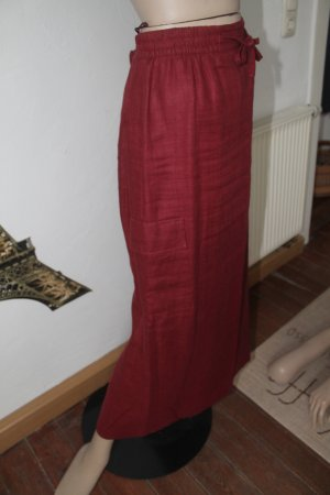 Leinenrock mit tollen Details * aufgesetzte Tasche * Bindegürtel * kaum getragen