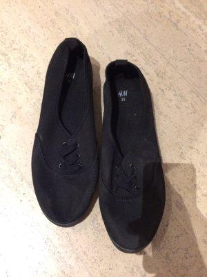 Leinenschuhe schwarz von H&M nie getragen