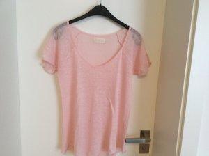 Leinenshirt rosa von Zara