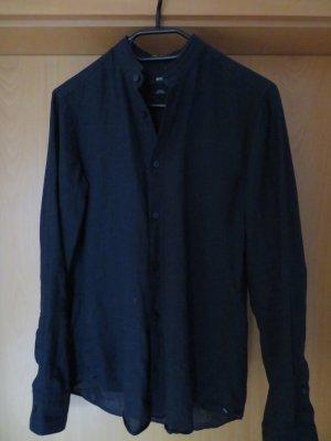 Hugo Boss Blusa in lino blu Lino