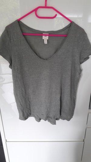 H&M V-hals shirt veelkleurig