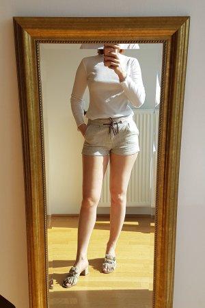 Mango Shorts cream linen