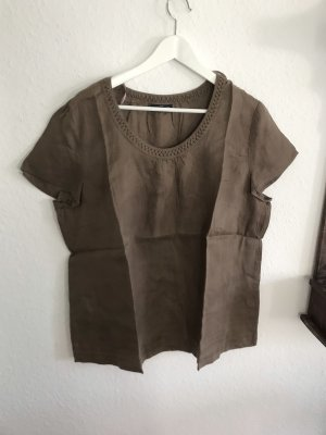 Sixth Sense Linen Blouse light brown
