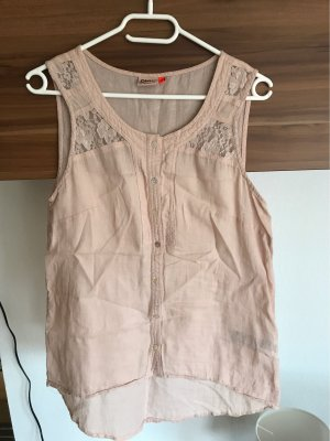 Only Blouse en lin rosé