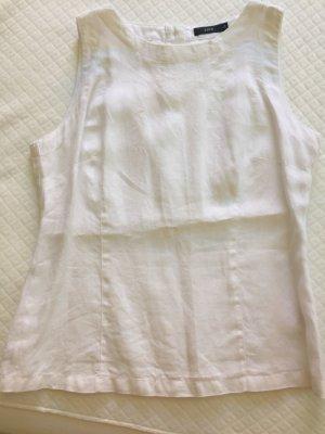 Zero Blouse Top white linen
