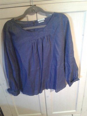 Benetton Linen Blouse blue