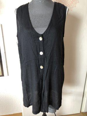 Gilet tricoté noir-blanc
