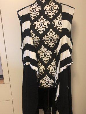 Chaqueta estilo camisa blanco-negro
