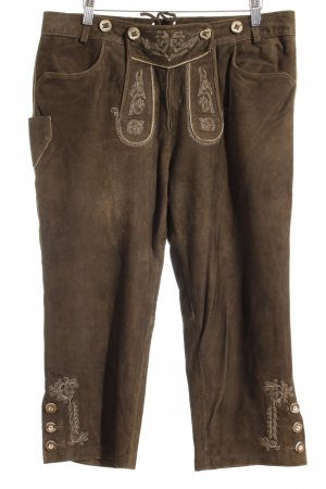 Lekra Country Traditional Leather Trousers brown classic style