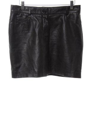 Lekra Leren rok zwart straat-mode uitstraling