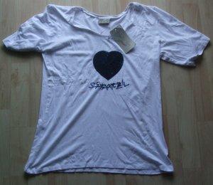 LEKRA Shirt Herz Pailletten Spatzl - Gr. L - NEU