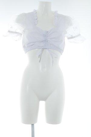 Lekra Folkloristische blouse wit transparante uitstraling