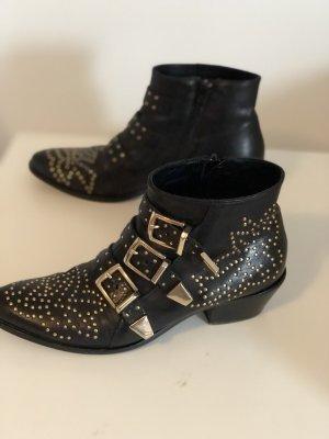 Lemar Boots Stiefeletten Echtleder Nieten