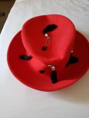 Cappello di lana rosso Lana