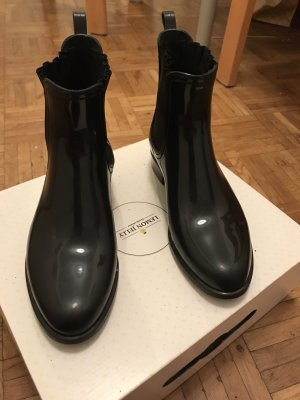 Wellies black-gold-colored