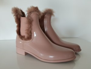 Chelsea Boot or rose matériel synthétique